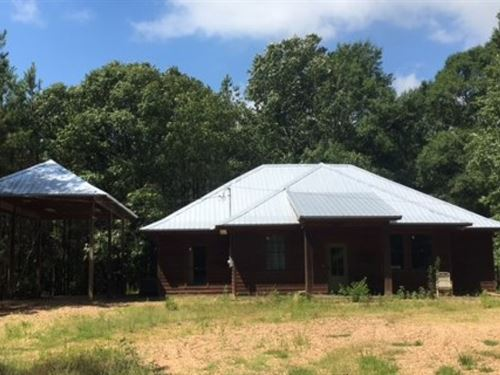 Secluded Cabin/Home On 137.91 Ac : Gloster : Amite County : Mississippi