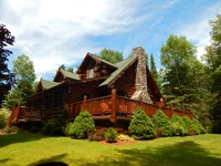 Log Home, Waiska River & 20 Acres : Brimley : Chippewa County : Michigan