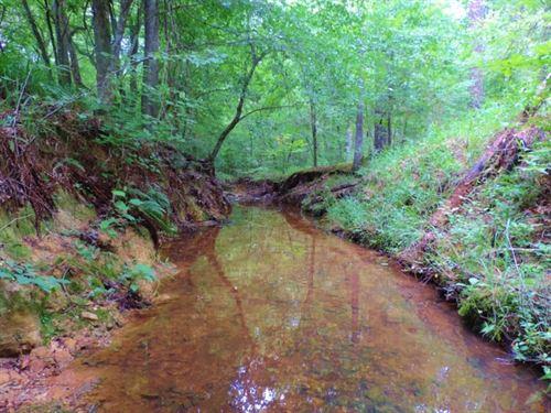 Creek Frontage/$1800 Per Acre : Crawfordville : Taliaferro County : Georgia