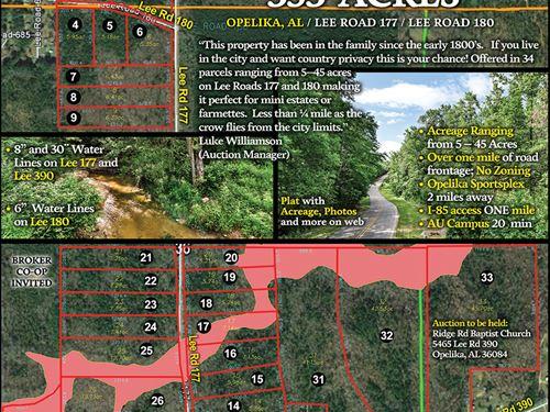 Murphy McGinty Family Of Acreage : Opelika : Lee County : Alabama