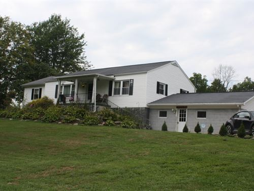14+ Acres Of Rolling Fields W/House : Duck : Clay County : West Virginia