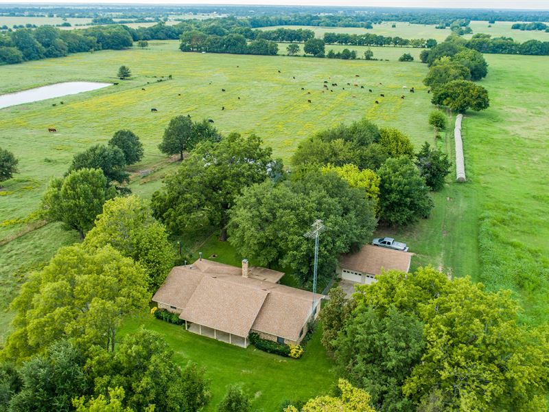 Cattle Or Horse Ranch For Sale : Ravenna : Fannin County : Texas