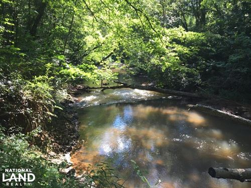 Secluded Homesite With Creek : Pickens : South Carolina
