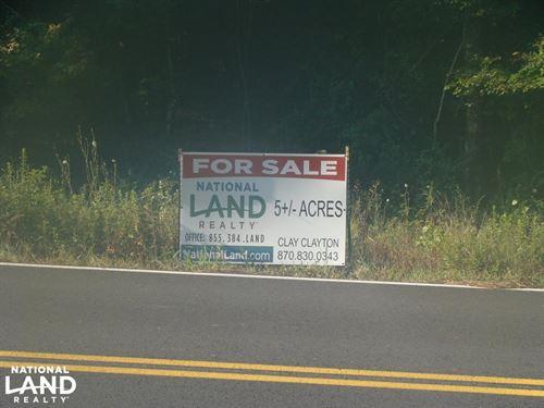 5 Acre Residential Lot : Mayflower : Faulkner County : Arkansas