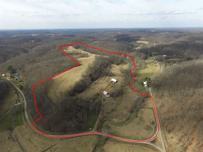 Sargent Rd - 64 Acres : Guysville : Athens County : Ohio