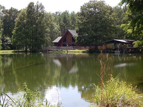 Cabin/Lake/Creek & 193 Acres/ W : Franklinton : Washington Parish : Louisiana