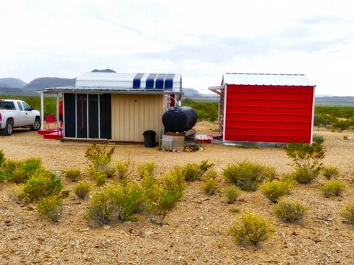 Off Grid Ranchette : Terlingua : Brewster County : Texas
