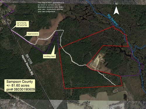 80+/- Acre Sealed Bid Sale : Roseboro : Columbus County : North Carolina