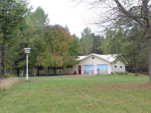 Updated Ranch On 40 Acres : Granton : Clark County : Wisconsin