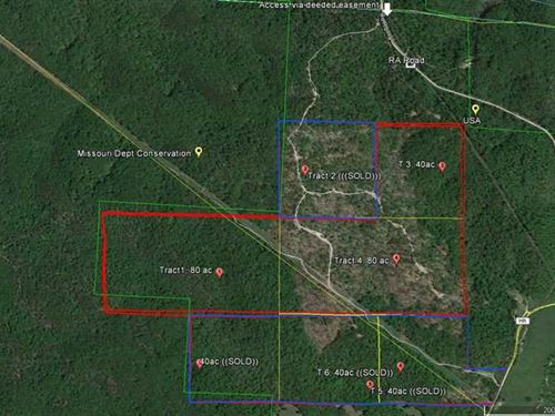 200 Acres For Sale in Reynolds : Piedmont : Reynolds County : Missouri