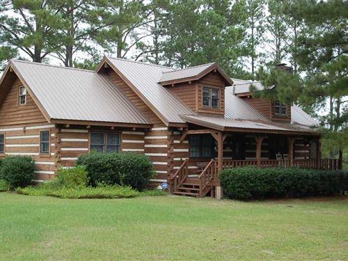 Beautiful Home With 45 Acres : Banks : Pike County : Alabama