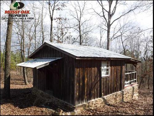 6 Acres And Cabin Near National Fo : Cleveland : Van Buren County : Arkansas