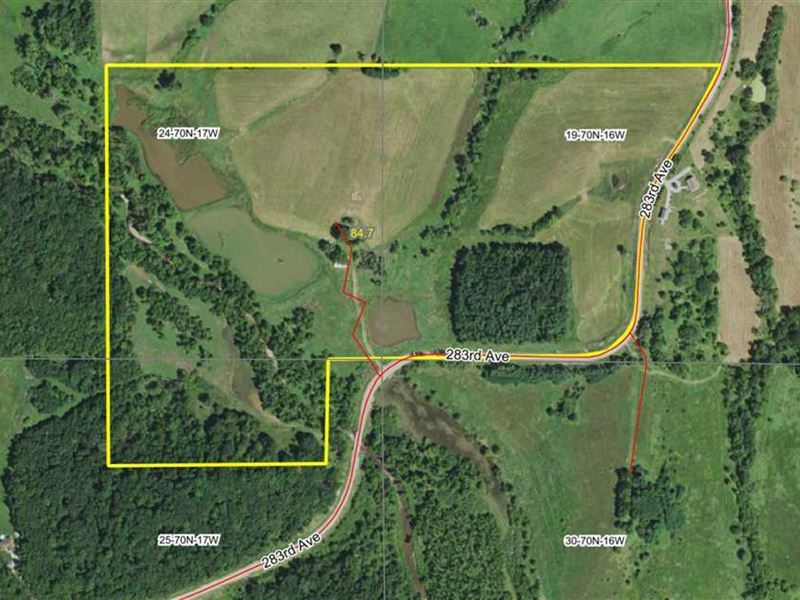 88 Acres M/L, Land For Sale in App : Moravia : Appanoose County : Iowa