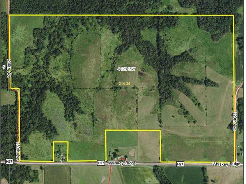 214 Acre M/L Combo Farm in Wapello : Ottumwa : Wapello County : Iowa
