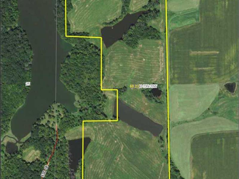 63 M/L Acres Pasture/Recreational : Williamson : Lucas County : Iowa