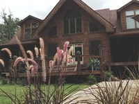 Log Home on 10 Wooded Acres in Saf : Larue : Henderson County : Texas