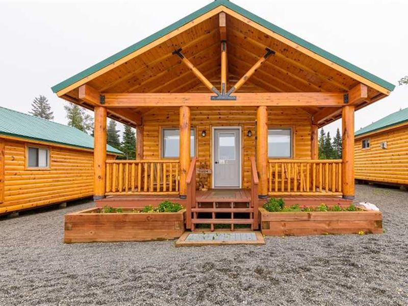 Ocean Front Land With Cabins on th : Clam Gulch : Kenai Peninsula Borough : Alaska
