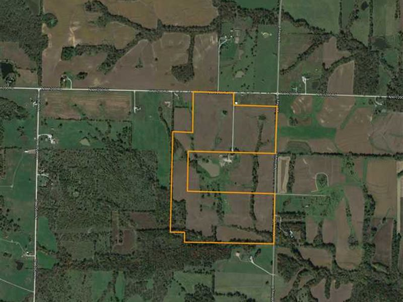 Great Tillable 111 Acre Henry Coun : Blairstown : Henry County : Missouri