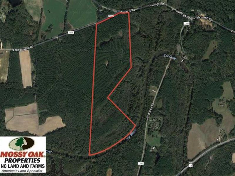 Under Contract, 77 Acres of River : Spring Hope : Nash County : North Carolina