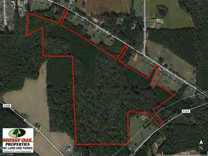 87 Acres of Hunting And Timber Lan : Middlesex : Wilson County : North Carolina