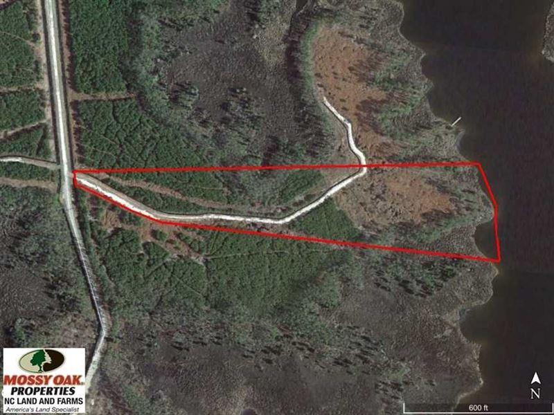 Under Contract, 10.21 Acres of Wa : Scranton : Hyde County : North Carolina