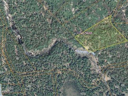 Own 24.77 Acres of Vacant Land in : Willow : Matanuska-Susitna Borough : Alaska