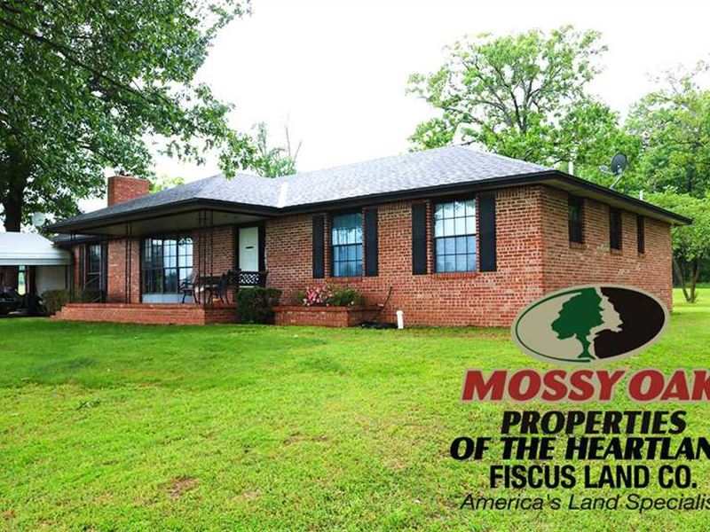 116 Acres With 3Bd 2Ba Brick Home : White Oak : Craig County : Oklahoma