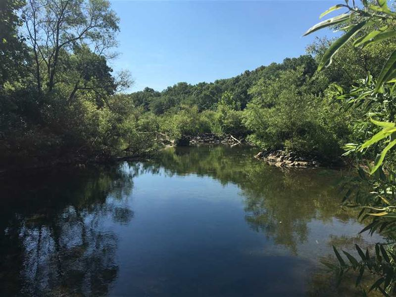 Riverfront 132 Acres And Beautiful : Hartville : Wright County : Missouri