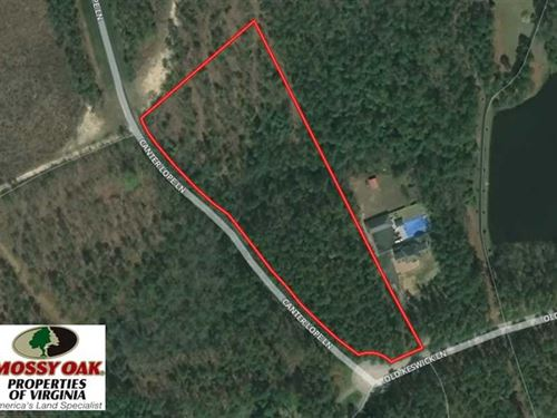 Reduced, 6.6 Acres of Residential : Carson : Dinwiddie County : Virginia