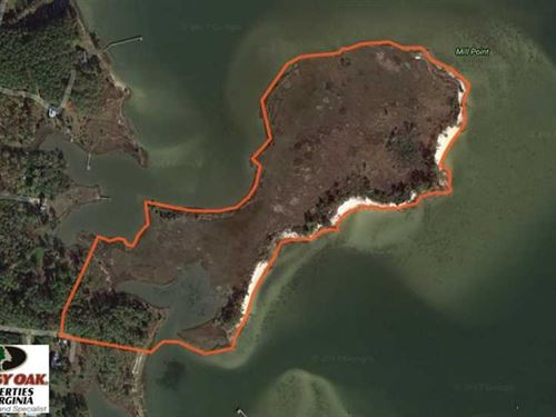 Under Contract, 18 Acres of Wate : New Point : Mathews County : Virginia