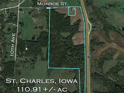 110 Ac., M/L, Timber Property For : Saint Charles : Warren County : Iowa