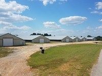 6 House Broiler Farm 40+/- Acres : Haleyville : Franklin County : Alabama