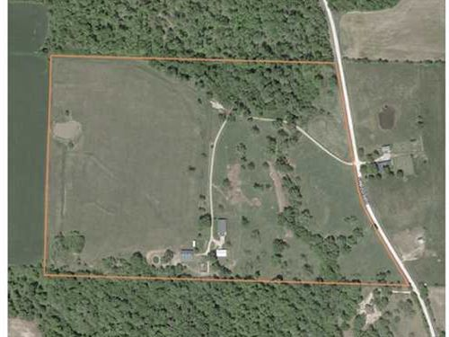 58 Acres w/ Ranch Style Home In Ho : Holden : Johnson County : Missouri