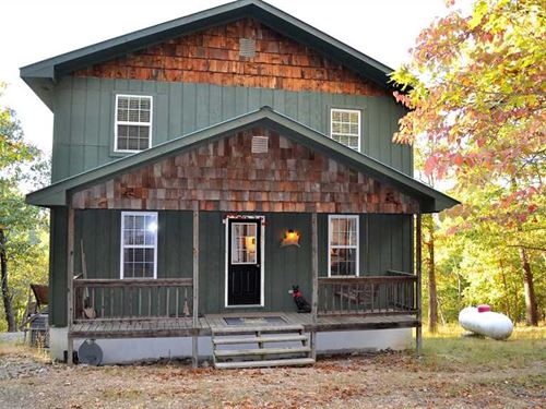 140 Acres With Cabin in a Secluded : Yellville : Marion County : Arkansas