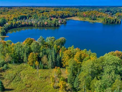 Rare Parcel On Beautiful Lake : Presque Isle : Vilas County : Wisconsin