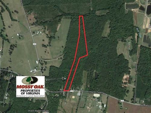 Under Contract, 16.60 Acres of Hu : Farmville : Cumberland County : Virginia