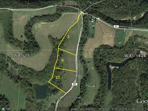 Gently Rolling Lot For Sale : Quaker City : Guernsey County : Ohio