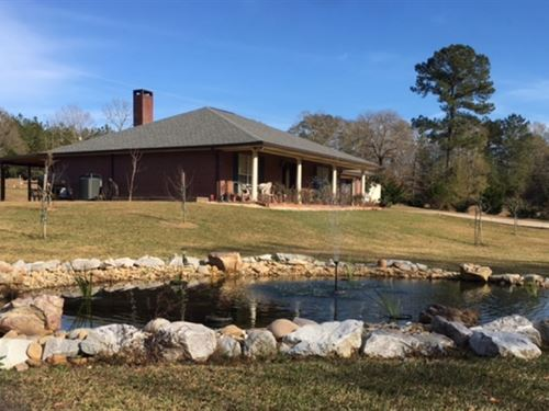 Home And 34 Acres With Two Ponds : Tylertown : Walthall County : Mississippi