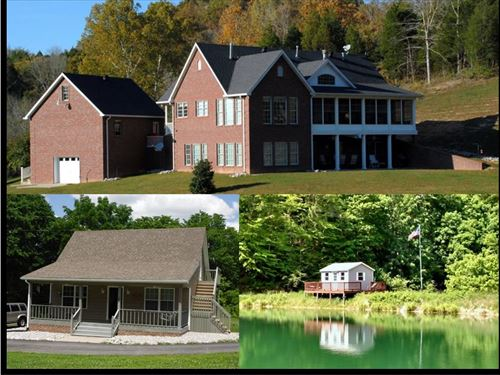 226 Acres, 2 Homes, Pole Barn, Lake : Tompkinsville : Monroe County : Kentucky