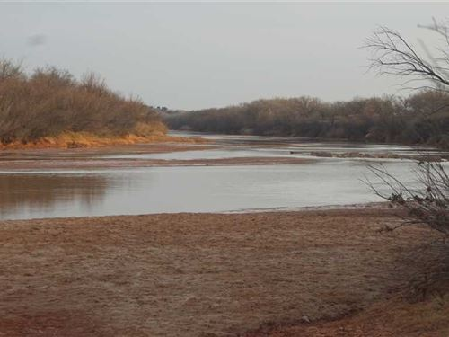 River Frontage on Tejasienda Ranch : Seymour : Baylor County : Texas