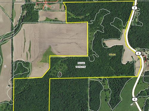 170 Acres Hwy Z Sullivan County : Milan : Sullivan County : Missouri