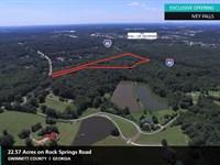 22.57 Acres Ivey Falls : Buford : Gwinnett County : Georgia