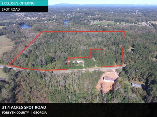31.4 Acres Spot Road : Cumming : Forsyth County : Georgia