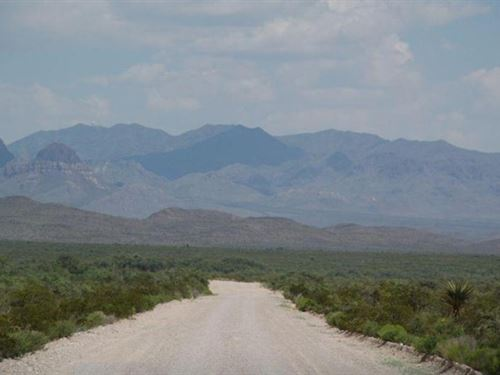 60 Acres On County Road $298/Mo : Sierra Blanca : Hudspeth County : Texas