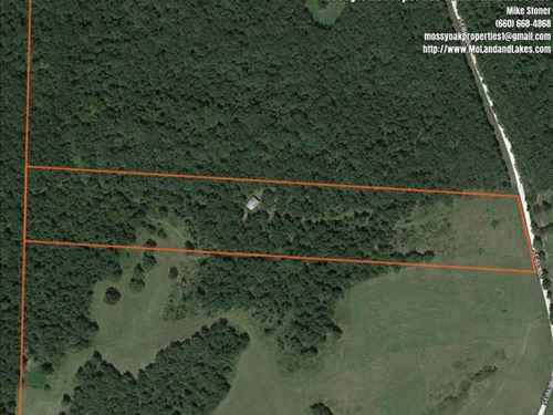 17 Acres With Metal Building And : Cole Camp : Benton County : Missouri