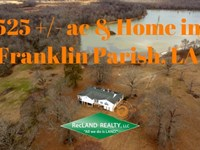 525 Ac, Hunting, Home & Lake : Winnsboro : Franklin Parish : Louisiana