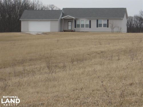 Home And Acreage Near Thousand Hill : Green Castle : Adair County : Missouri
