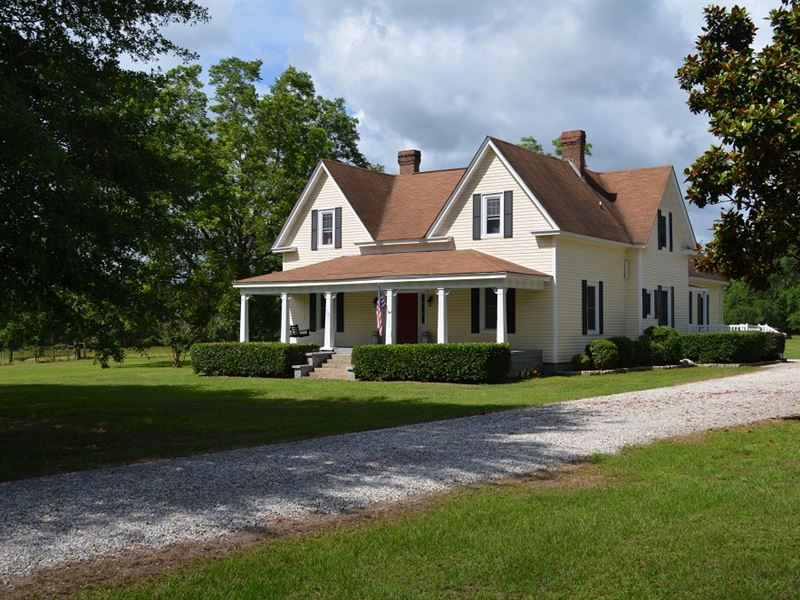 Historic Home On 18 Acres Farm For Sale Opelika Lee