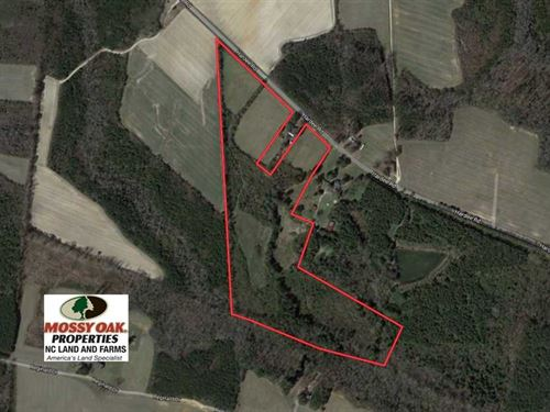 Reduced, 33.51 Acres of Farm And : Enfield : Halifax County : North Carolina