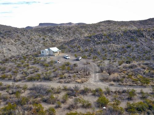New Off Grid Cabin On 20 Acres : Terlingua : Brewster County : Texas
